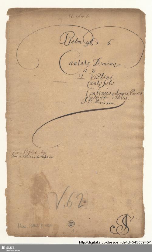 Vorschaubild von Cantate Domino canticum novum - Mus.1862-E-503