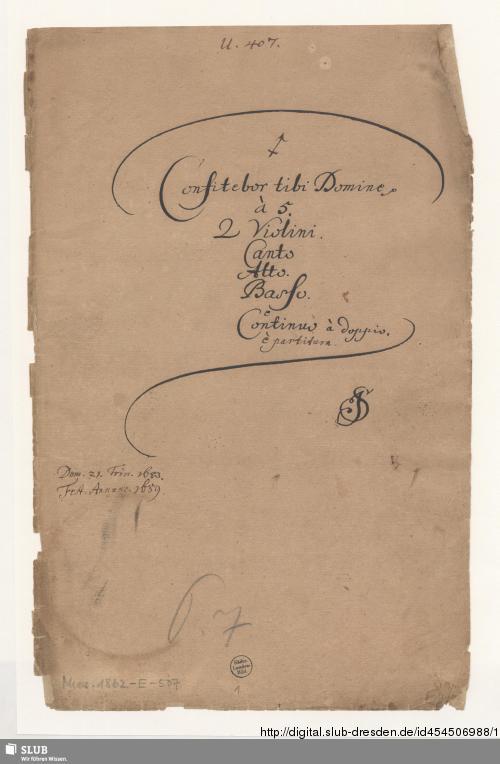 Vorschaubild von Confitebor - Mus.1862-E-507 - Mus.1862-E-507a