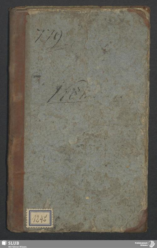 Vorschaubild von Wanderbuch für den Seilergesellen Heinrich Köthnig aus Obernitzschka bei Wurzen - BId 136