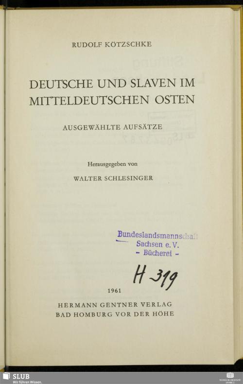 Vorschaubild von Deutsche und Slaven im mitteldeutschen Osten