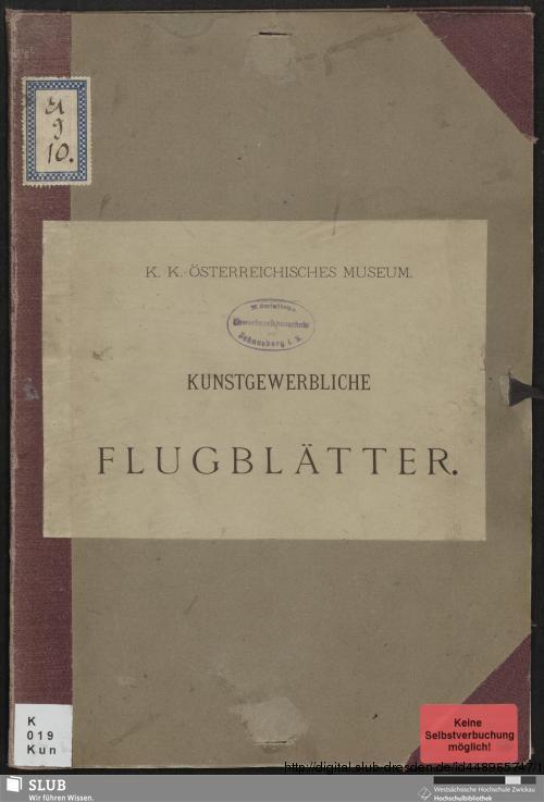 Vorschaubild von Kunstgewerbliche Flugblätter