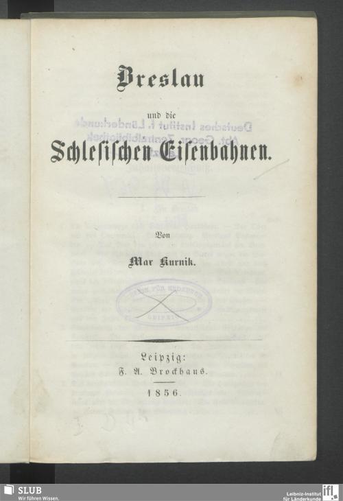 Vorschaubild von Breslau und die Schlesischen Eisenbahnen
