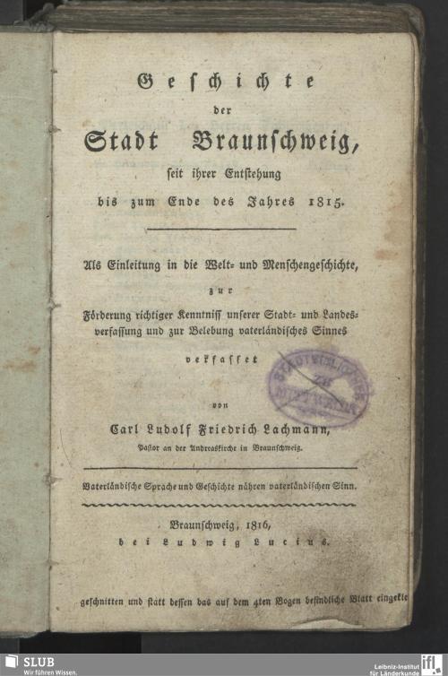 Vorschaubild von Geschichte der Stadt Braunschweig