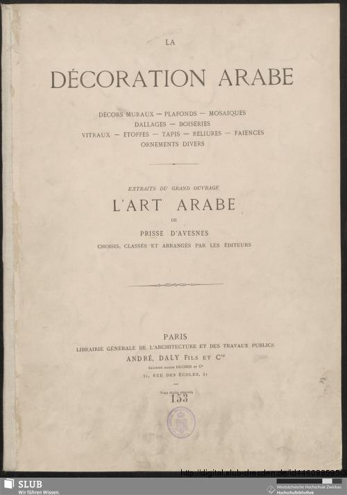 Vorschaubild von La décoration arabe