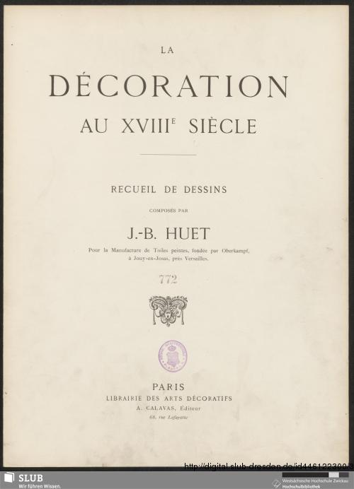Vorschaubild von La décoration au XVIIIe siècle