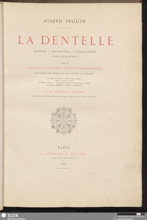 Vorschaubild von La dentelle
