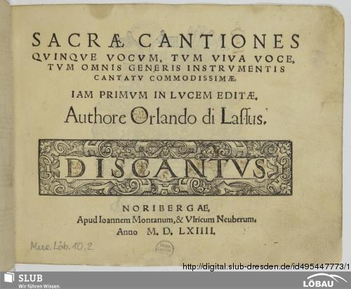 Vorschaubild von Sacrae cantiones