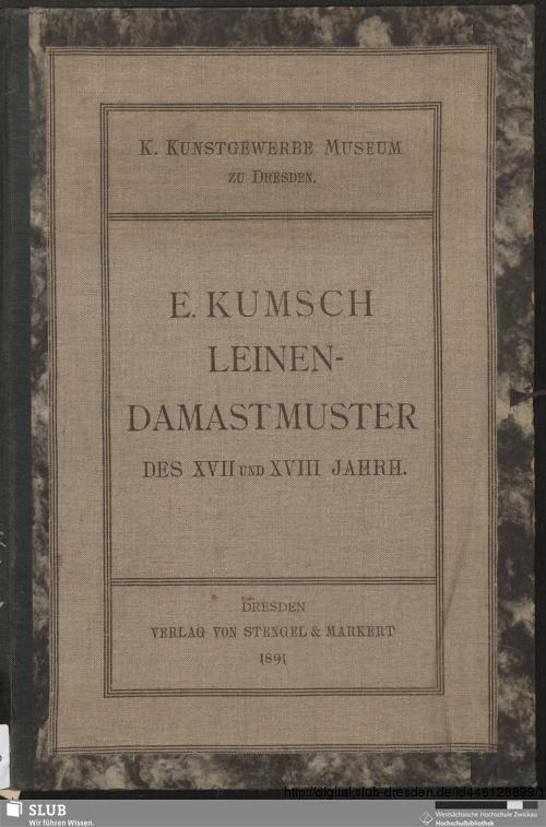 Vorschaubild von Leinen-Damastmuster des XVII und XVIII Jahrhunderts