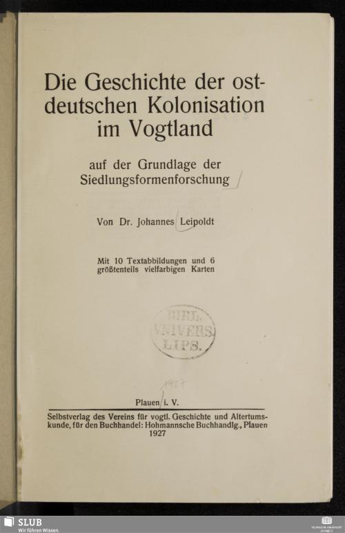 Vorschaubild von Die Geschichte der ostdeutschen Kolonisation im Vogtland