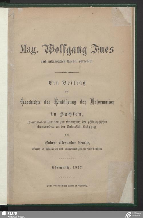 Vorschaubild von Mag. Wolfgang Fues nach urkundlichen Quellen dargestellt