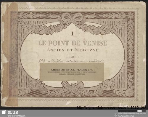 Vorschaubild von Le point de Venise ancien et moderne