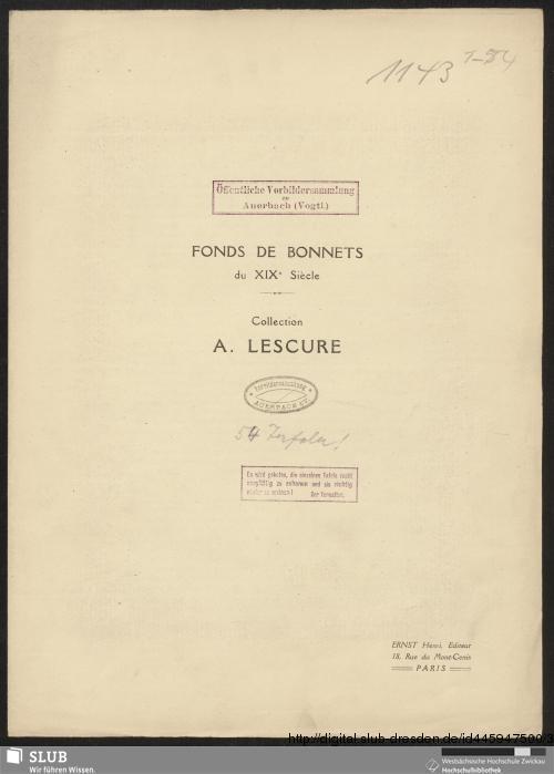 Vorschaubild von Fonds de bonnets du XIXe siècle