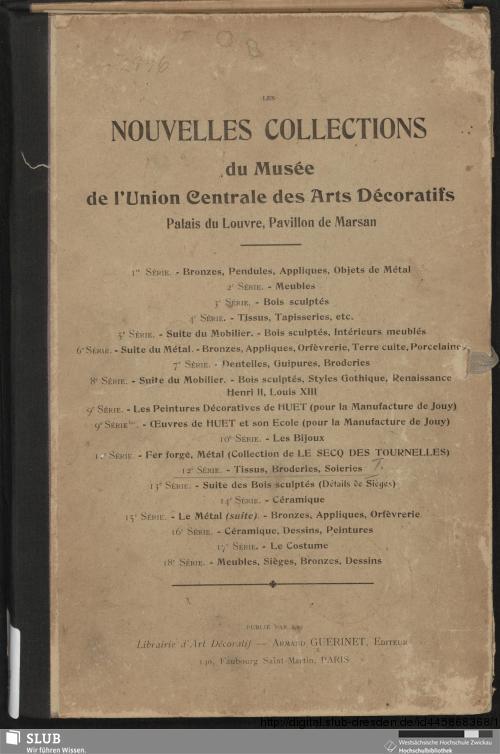 Vorschaubild von Broderies, tissus, soieries, dessins de tissus
