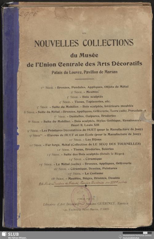 Vorschaubild von Dessins de soieries, tissus & broderies du XVIIIe siècle