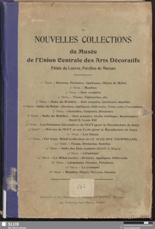 Vorschaubild von Dessins de tissus pour la manufacture de tours