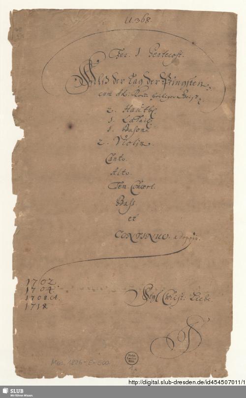Vorschaubild von Als der Tag der Pfingsten erfüllet war - Mus.1896-E-500