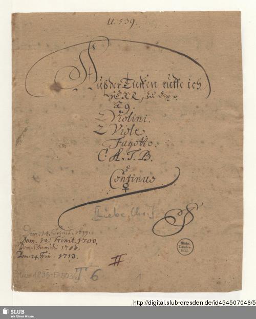 Vorschaubild von Aus der Tiefen rufe ich Herr zu dir - Mus.1896-E-503 - Mus.1896-E-503a