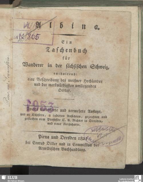 Vorschaubild von Albina, ein Taschenbuch für Wanderer in der sächsischen Schweiz