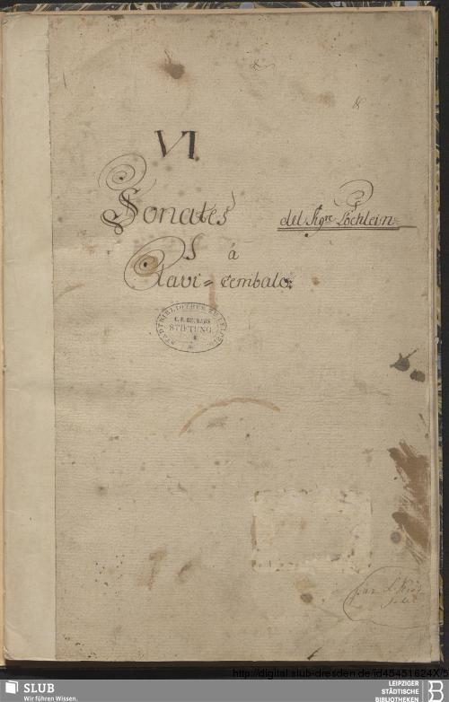 Vorschaubild von 6 Sonatas - Becker III.8.50