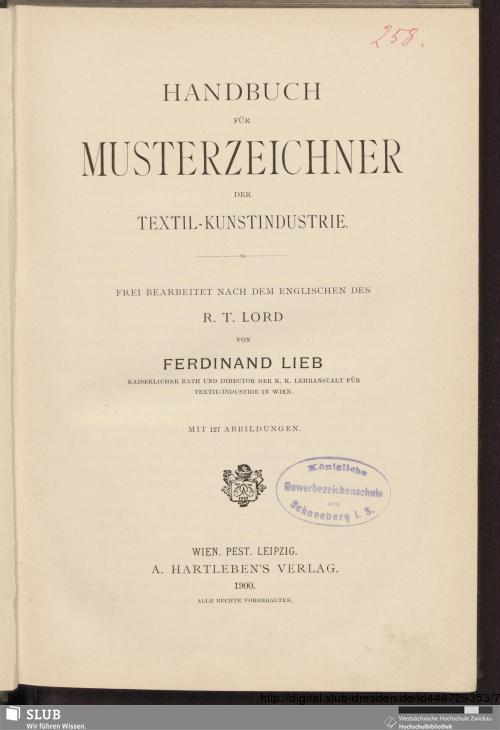 Vorschaubild von Handbuch für Musterzeichner der Textil-Kunstindustrie