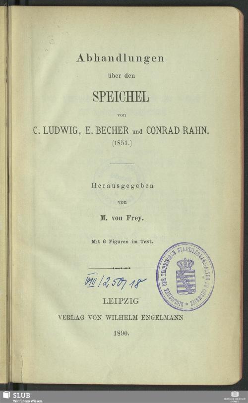 Vorschaubild von Abhandlungen über den Speichel