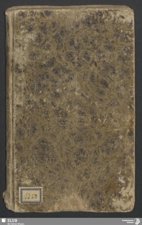 Vorschaubild von Wanderbuch für den Müllergesellen Johann Christlieb Ludwig aus Reindorf bei Waldheim - 3376