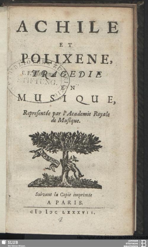 Vorschaubild von Achile Et Polixene
