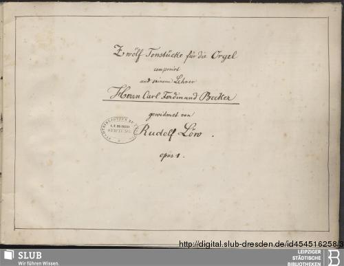 Vorschaubild von 12 Organ pieces - Becker III.8.49