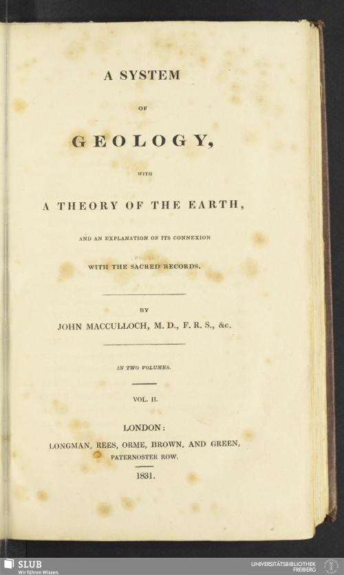 Vorschaubild von [A system of Geology]