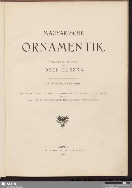 Vorschaubild von Magyarische Ornamentik
