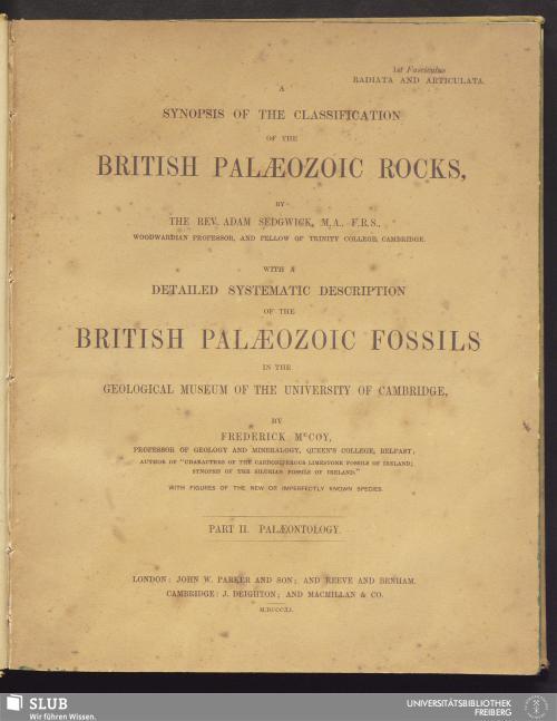 Vorschaubild von Palaeontology