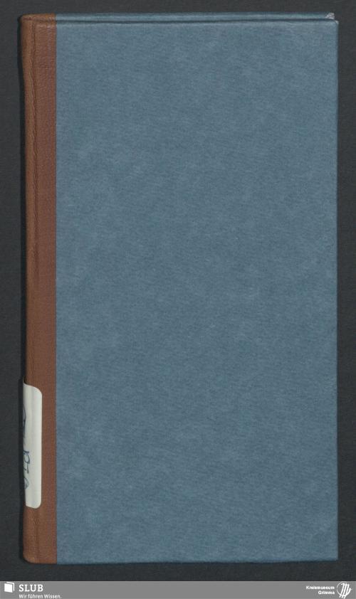 Vorschaubild von Wanderbuch für den Glasergesellen Heinrich Wilhelm Meinig aus Großmilkau bei Rochlitz - BId 120