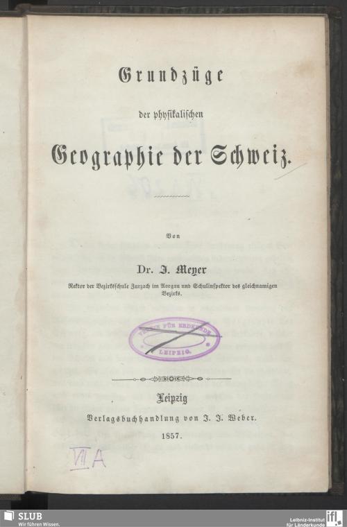 Vorschaubild von Grundzüge der physikalischen Geographie der Schweiz