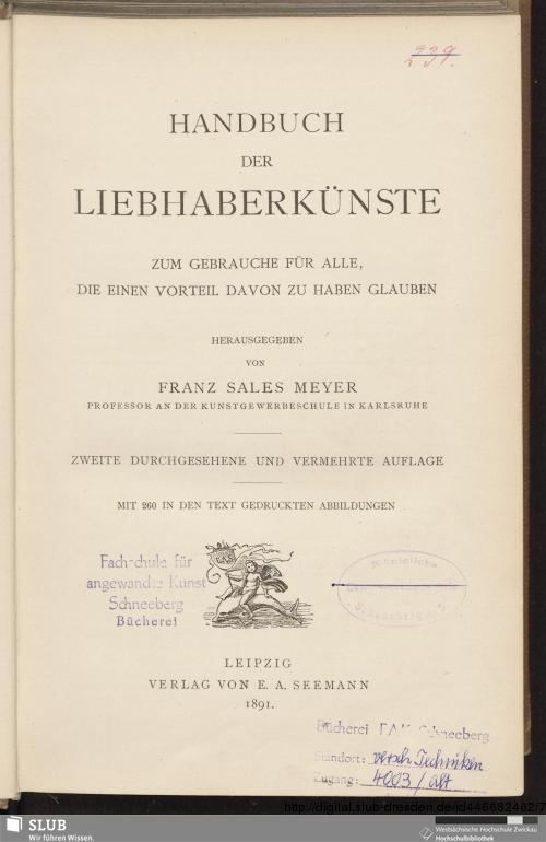 Vorschaubild von Handbuch der Liebhaberkünste