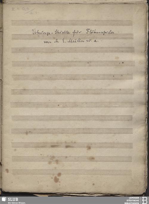 Vorschaubild von 23 Instrumental pieces - Becker III.11.62a