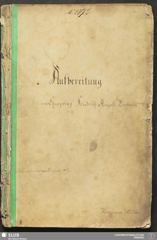 Vorschaubild von Aufbereitung von Churprinz Friedrich August Erbstolln - 18.7124 4.