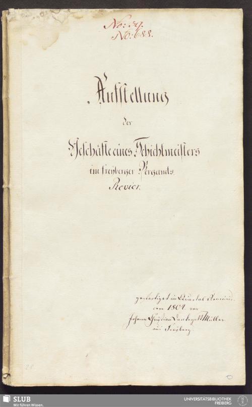 Vorschaubild von Aufstellung der Geschäfte eines Schichtmeisters im freyberger Bergamts-Revier - 17.6595 4.