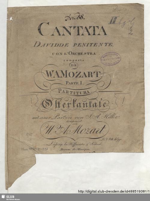 Vorschaubild von Cantata Davidde penitente con l'Orchestra