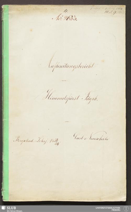 Vorschaubild von Aufbereitungsbericht von Himmelsfürst Fdgrb. - 18.7280 4.