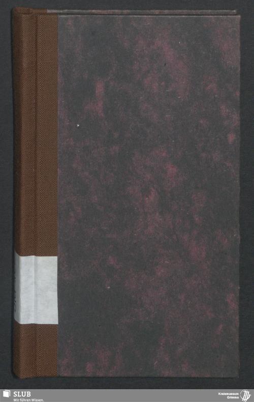 Vorschaubild von Wanderbuch für den Seilergesellen Johann Gottlob Nitzsche aus Leisnig - BId 100
