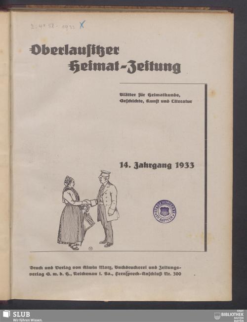Vorschaubild von [Oberlausitzer Heimatzeitung]