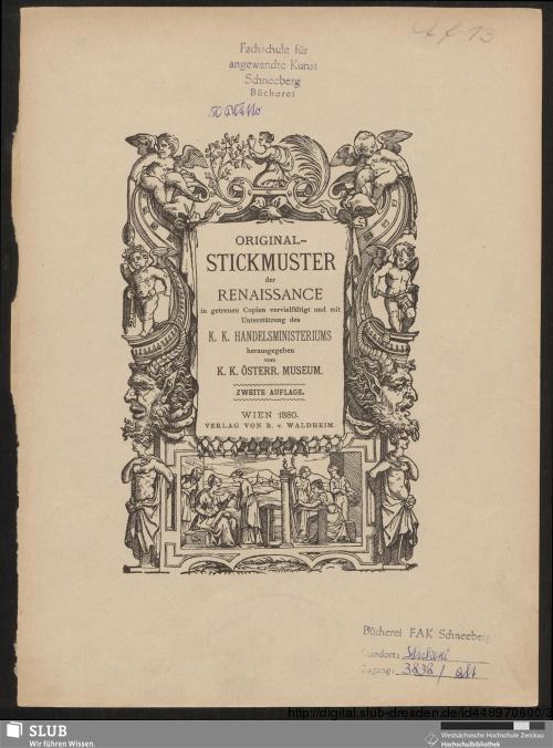 Vorschaubild von Original-Stickmuster der Renaissance
