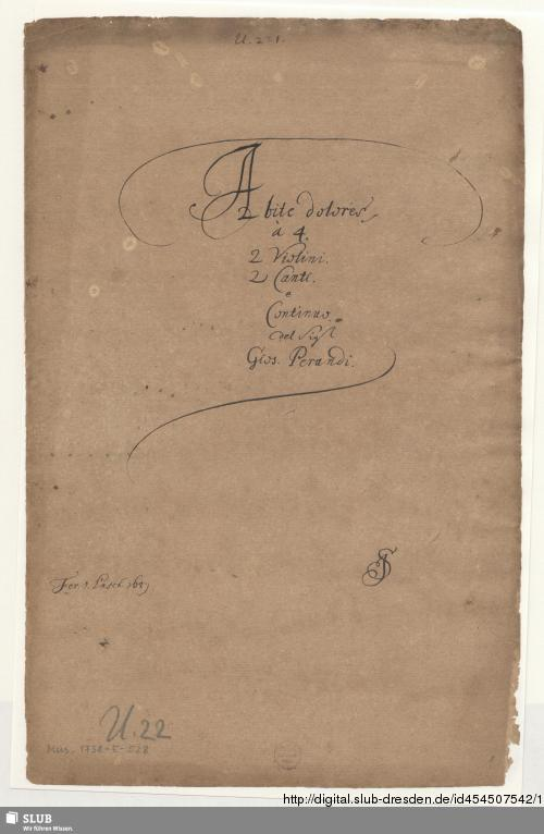 Vorschaubild von Abite dolores jam mundi furentis - Mus.1738-E-528