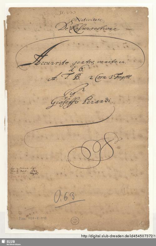 Vorschaubild von Accurrite gentes - Mus.1738-E-510