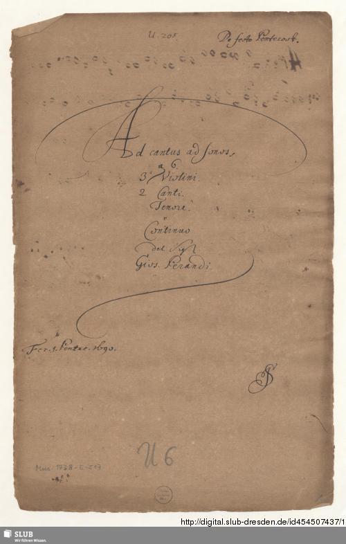 Vorschaubild von Ad cantus ad sonos - Mus.1738-E-517