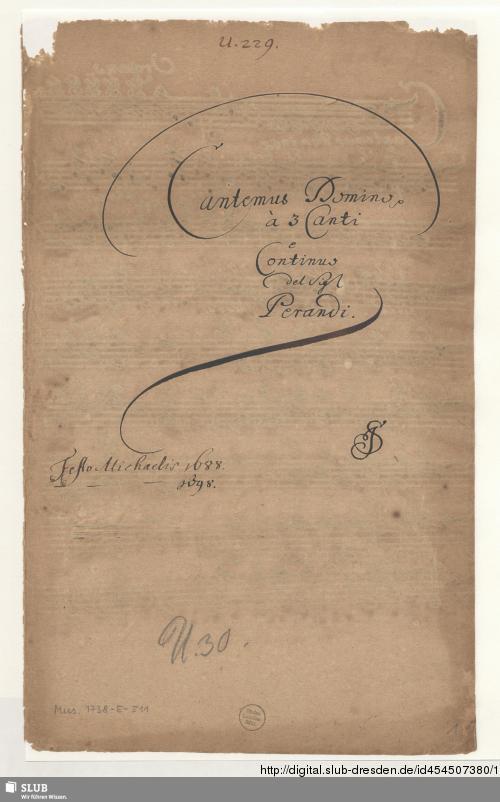 Vorschaubild von Cantemus Domino - Mus.1738-E-511