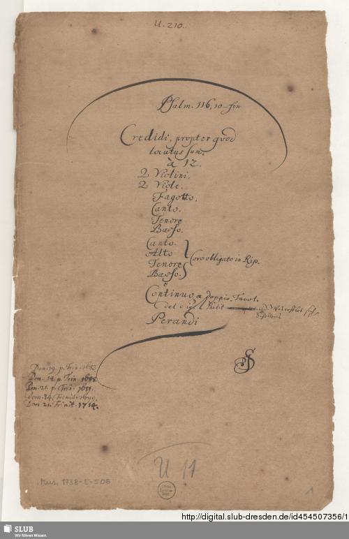 Vorschaubild von Credidi - Mus.1738-E-506