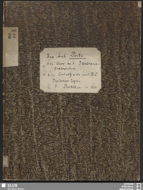 Vorschaubild von 2 Sacred songs - Becker III.2.146