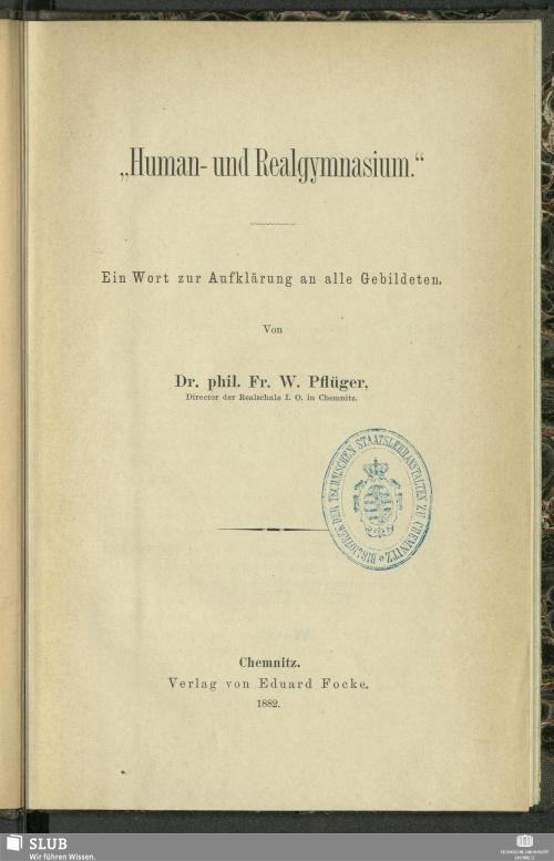 """Vorschaubild von """"Human- und Realgymnasium"""""""