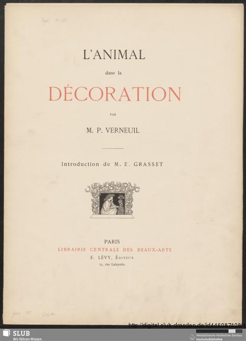 Vorschaubild von L'animal dans la décoration